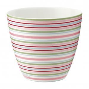 Latte mugg Silvia stripe white