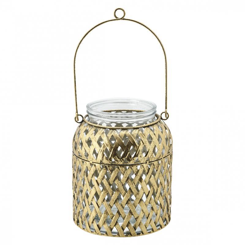 Lanterna med glas guld