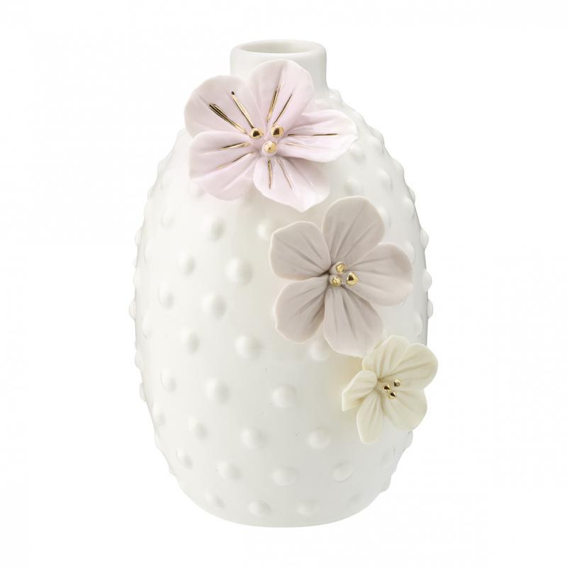 Vas Anemone dusty cream w/gold large