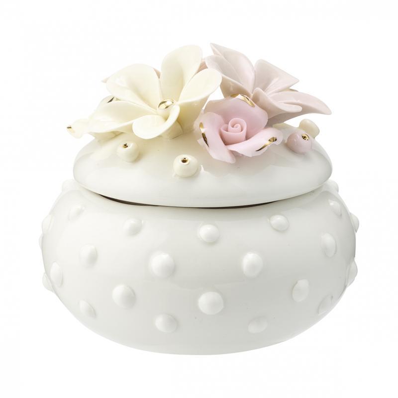 Smycke burk Daisy dusty cream small