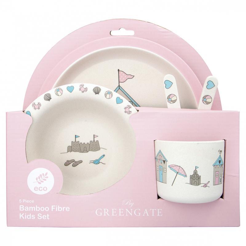 Barn måltidsset, 4 delar Ellison pale pink