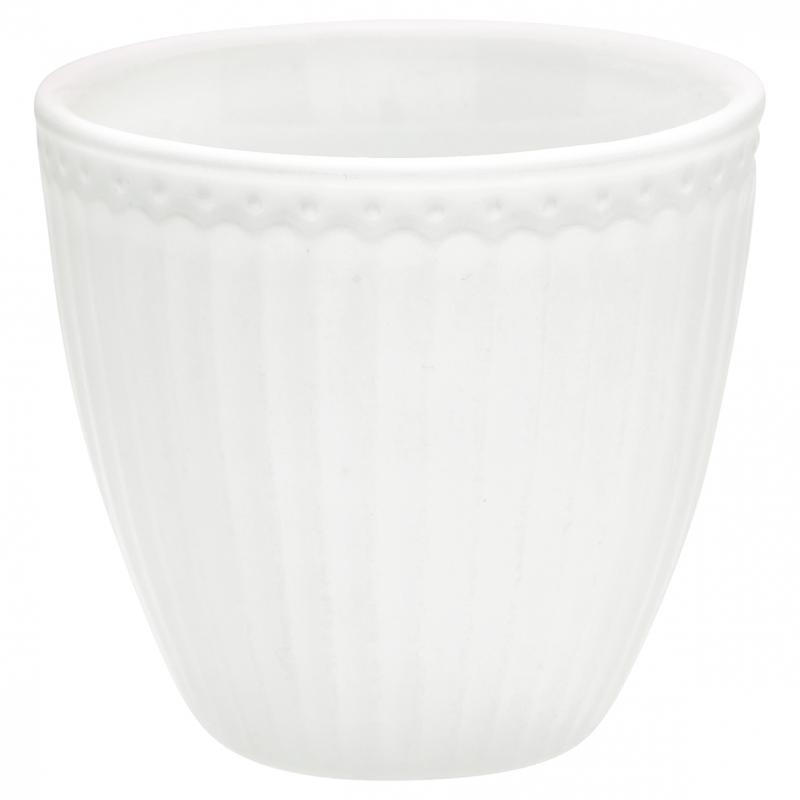 Lattemugg Alice white