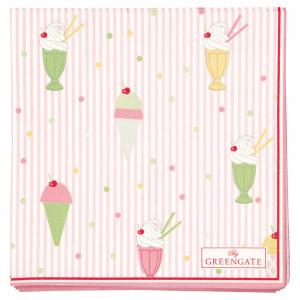 Pappersservett Isa pale pink small 20pcs