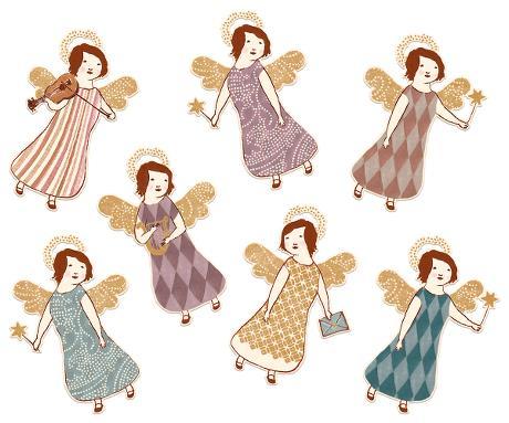 Gift tags Angels, 14 kort  (Maileg)