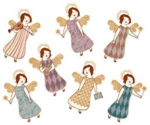 Gift tags Angels, 14 kort  (Maileg)