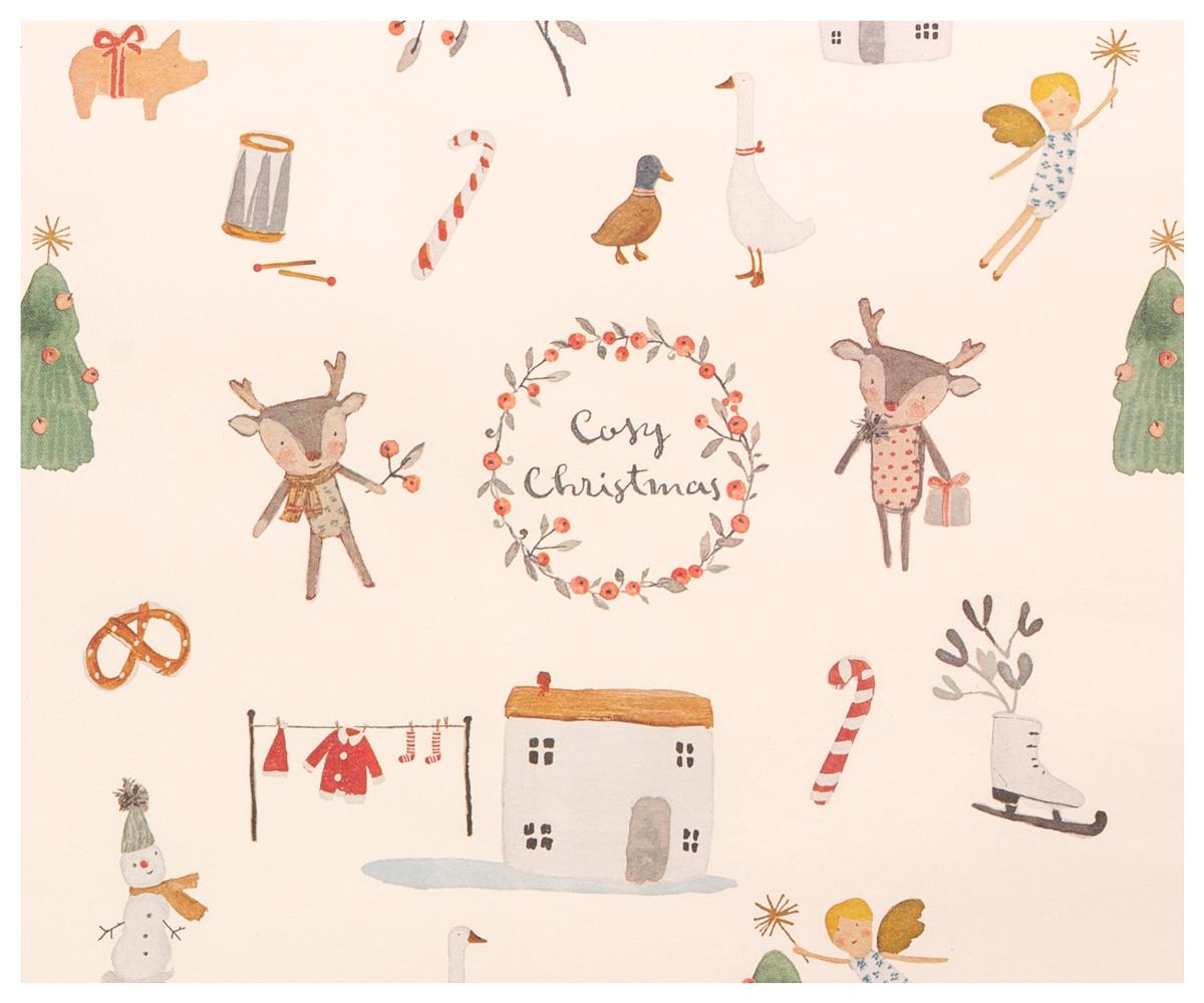 GIFTWRAP, COSY CHRISTMAS 10 M - OFF WHITE - Maileg