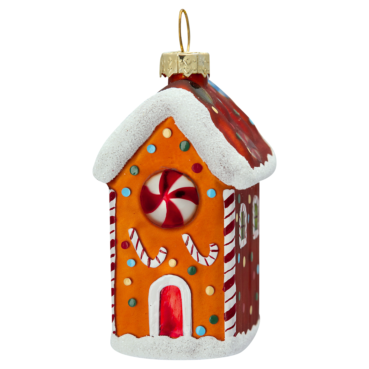 Gingerbread house glitter small - Greengate