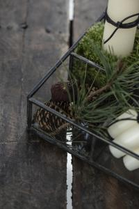 Glasbox med 4 fack, Mörk antikfinish - Ib Laursen