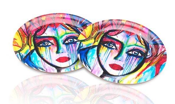 Glasunderlägg Slice of Life (4-pack), Carolina Gynning