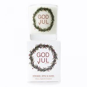 Klinta, Lilla Doft- och massageljuset - Körsbär, Äpple & Kanel (GOD JUL)