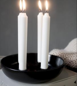 Granholmen Ljusstake till 4 ljus, Svart
