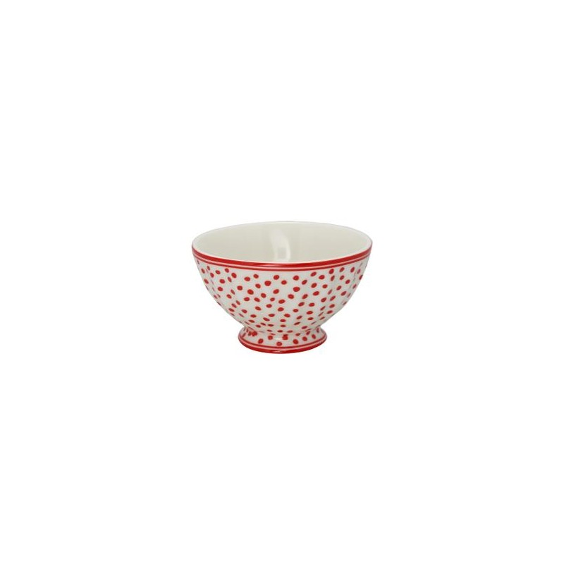 Greengate French Bowl Medium, Dot White
