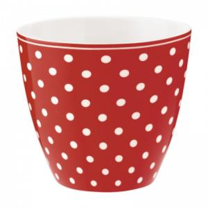 Lattemugg Spot red - Greengate