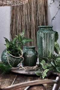 Eklaholm Vas Art Nouveau 47 cm, Grön keramik - I AM INTERIOR      KOMMER I DEC