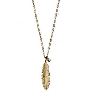 Halsband Lauren Guldpläterad med kristall – Pilgrim
