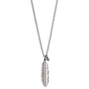 Halsband - Lauren, Silverpläterad, Kristall - Pilgrim