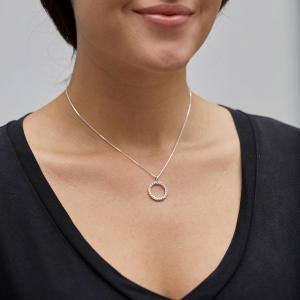 Halsband Malin Silverpläterad Kristall – Pilgrim