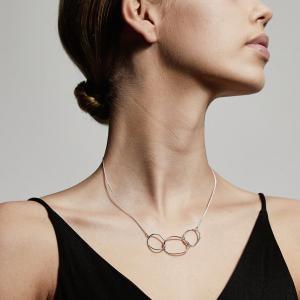 Halsband Nika Silverpläterad – Pilgrim