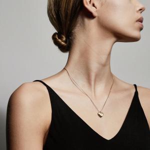 Halsband Sophia Enkelhjärta Guldpläterad Kristall – Pilgrim