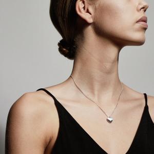 Halsband Sophia Silverpläterad med kristall – Pilgrim