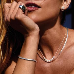 Halsband Talia Silverpläterad – Pilgrim