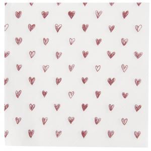 Ib Laursen, Servett med Röda Hjärtan 20st