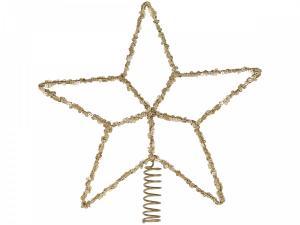 Julgrans stjärna, paljetter och mässing - Chic Antique