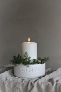 Julmys Kruka - Skål Vit- Majas Cottage (beräknas komma i november)
