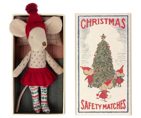 CHRISTMAS MOUSE IN BOX - BIG SISTER (Maileg)    KOMMER I OKT/NOV