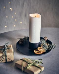 Kalenderljus vitt, Ø6xH30 cm  - Affari