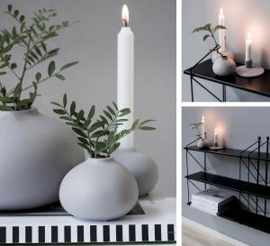 Källa ljusstake ljusgrå - Storefactory