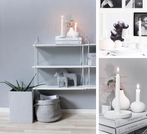 Källa ljusstake Vit - Storefactory