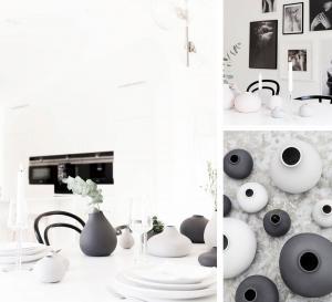 Källa Vas Liten Bullig ljusgrå - Storefactory