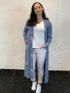 Kimono, blåblommig (Linn) - Mix by Heart