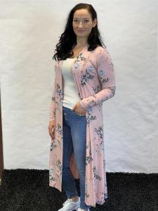 Kimono, rosablommig (Linn) - Mix by Heart
