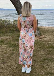 Klänning, Rosmönstrad med knyte bak, rosa (Heaven) - Mix by Heart