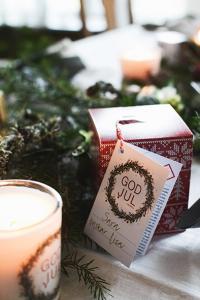 Klinta, Stora Doft- och massageljuset - Prosecco & vanilj (GOD JUL)