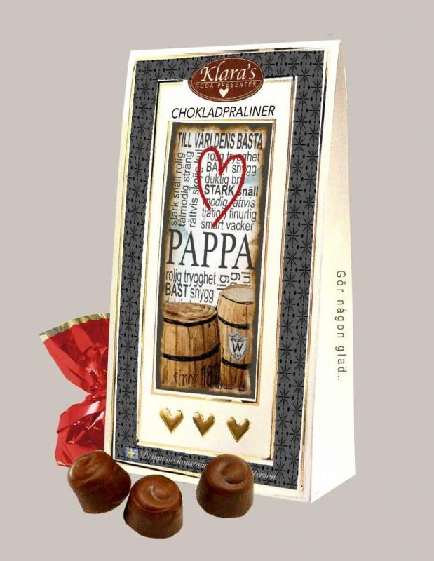 Till världens bästa pappa - Chokladpraliner