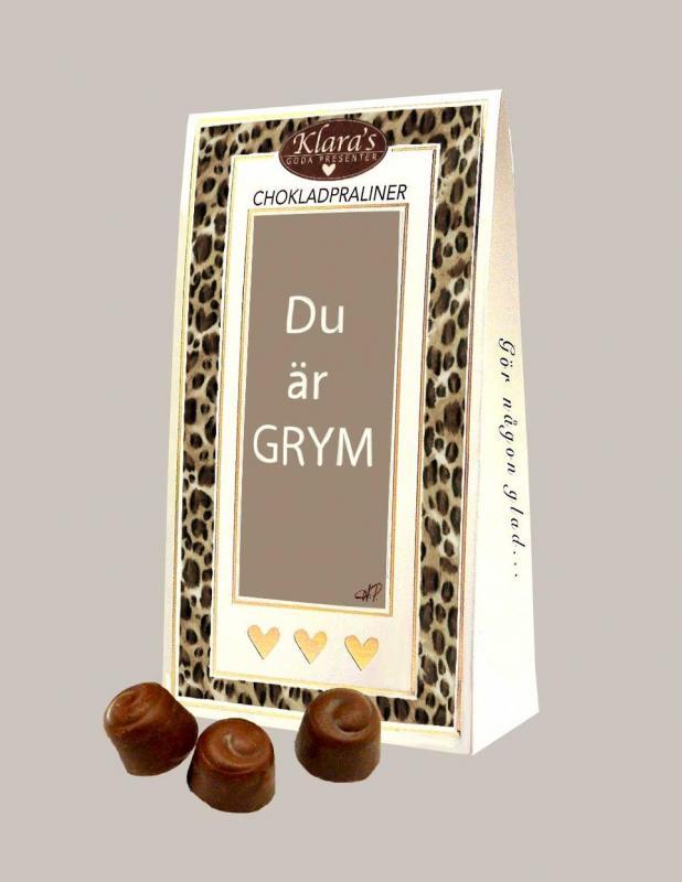 DU ÄR GRYM - Chokladpraliner Deluxe (leo)