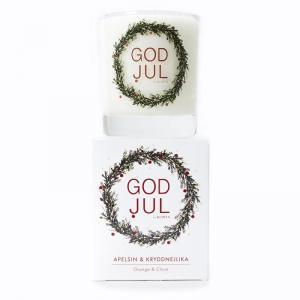 Klinta, Stora Doft- och massageljuset - Apelsin & Kryddnejlika (GOD JUL)