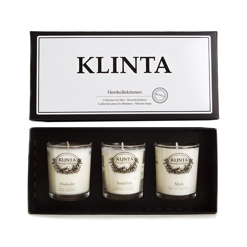 Klinta, Herrkollektion 3-pack - i presentask