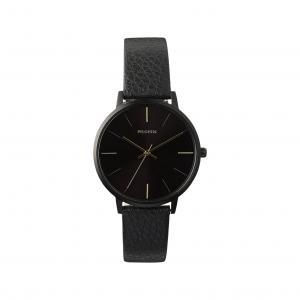 Klocka Sacha, Hematit, Svart Armband – Pilgrim