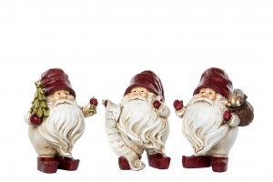 Knubbig Röd Tomte med julgran - A lot