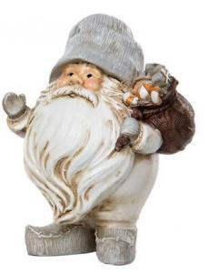 Knubbig Grå Tomte med julklappssäck - A lot