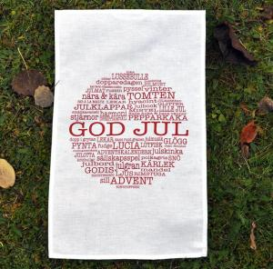 Kökshandduk, GOD JUL - Mellow Design