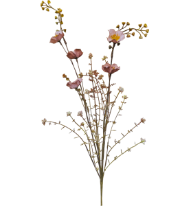 Konstblomma, Gammelrosa blommor - Sköna ting