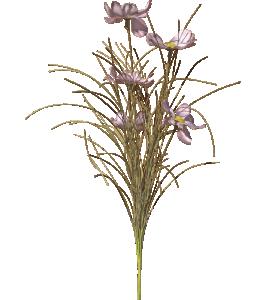Konstblomma, ljusrosa/lila blommor