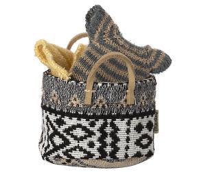 Korg svart vit inka-mönster - Maileg   LEV OKT