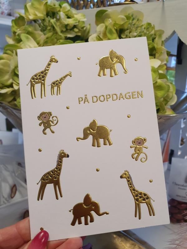På Dopdagen, Olika djur i guld - kort från Pictura