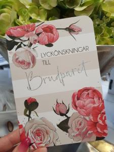 Lyckönskningar till Brudparet, kort från Pictura